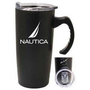 17 Oz. Stainless Steel Travel Mug w/ Plastic Interior & Slide Lid